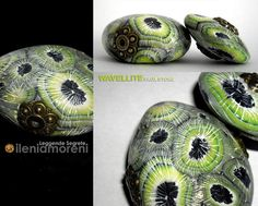 Polymer clay faux wavellite by Ilena Moreni.