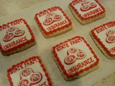 State Farm Logo Cookies