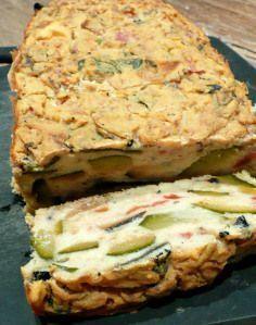 Cake ratatouille à la farine de pois chiche (vegan)