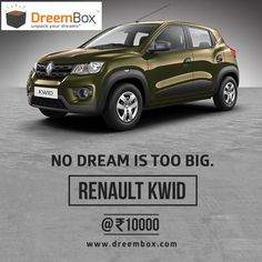 The all new Cute Renault Kwid is within your reach now. No EMIs, no loans. You can own one just at 5,000.   Just register and Bid on the car at www.dreembox.com. Play on.   #win #winner #prizes #contest #bid #auction #india #traveldiaries #yamaha #kwid#renault #bikes #cars