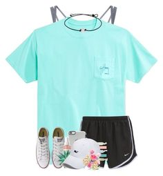 """""""Am I the only one who still has over a month of summer left?"""" by jeh-shev ❤ liked on Polyvore featuring NIKE, Guy Harvey, Accessorize, Converse, Mario Badescu Skin Care, Vineyard Vines and Tory Burch"""