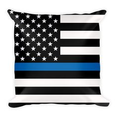 Thin Blue Line Flag Pillow