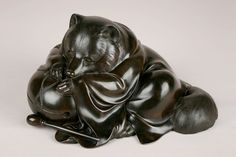 Kagedo specializes in fine Japanese art with a focus on modernism from the through the century. Japanese Raccoon Dog, Issa, Priest, Japanese Art, Metal Working, Lion Sculpture, Darth Vader, Bronze, Statue