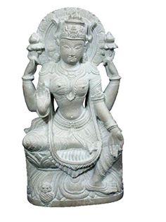 Stone Statue of Lakshmi - Goddess of Wealth, Prosperity, Wisdom and Fortune Yoga Sculpture 8 Inch Mogul Interior http://www.amazon.com/dp/B00STF5GWK/ref=cm_sw_r_pi_dp_PTgtvb1XECFE6