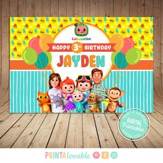 Printables made with love First Birthday Party Themes, 1st Birthday Cakes, Birthday Ideas, Banner Backdrop, Birthday Backdrop, Paw Patrol Birthday Card, Baby Shower Backdrop, Birthday Scrapbook, Party Banners