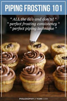 Piping frosting | piping tips | piping frosting on cupcakes
