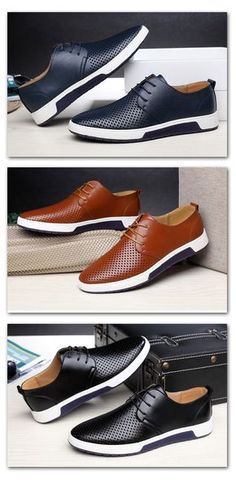 Casual Leather Summer Breathable Luxury Flat Shoes. Men s ShoesWedge ShoesNike  ShoesDress ... b0ec3e442e98
