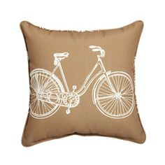 This versatile pillow is a great multifunctional accessory for all kinds of lounging. Showcase on your bedspread, plop it on the hardwood, or bring it out to the patio—this durable pillow will solve yo...  Find the Bicycle In & Out Pillow, as seen in the Live the Good Life in Napa Valley Collection at http://dotandbo.com/collections/live-the-good-life-in-napa-valley?utm_source=pinterest&utm_medium=organic&db_sku=92388