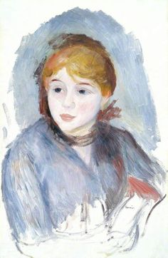 The Athenaeum - Young Girl in Blue (Pierre Auguste Renoir - )