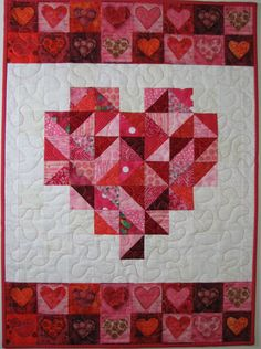 Quilted Wall Hanging  Valentine's Day Wall by VillageQuilts