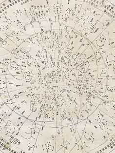 Japanese star map Tenmon Bun'ya no zu - detail view (map showing divisions of the heavens and regions they govern), 1677. Science Museum London