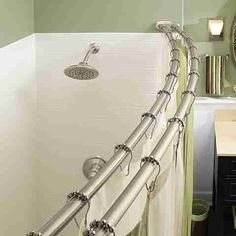 Moen Shower Curtain Rods Two Curtains Rod Brushed