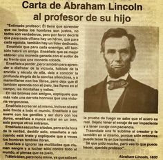 Carta a Abraham Lincoln Motivational Phrases, Inspirational Quotes, Positive Phrases, Abraham Lincoln, Ap Spanish, Spanish Class, Teaching Spanish, Life Lessons, Wise Words