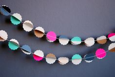 """CLOUDS """"pétilllant"""" handmade paper garland - photo and styling © Mi-avril"""