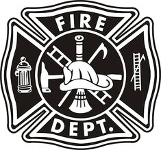 Firefighter Maltese Cross Vector Art -  fire department maltese cross business cards