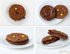 Soft chewy nutella and reese's pieces cookies sandwich filled with nutella
