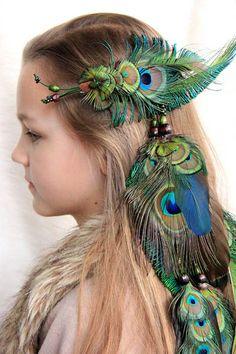 "Feather hair extension ""Bohemian"""