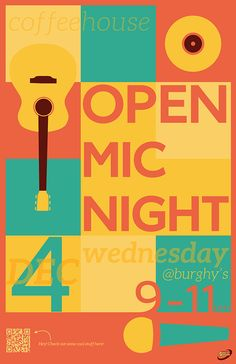 Open Mic Night Poster on Behance