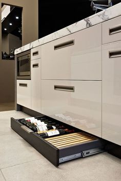 European Kitchen 23 Kicker drawer wine rack...