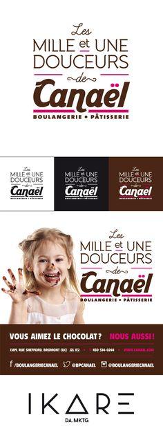 Les mille et une douceurs de Canaël à la Fête du chocolat de Bromont 2013 - Logo, publicité, affichage par Tommy Ikare Desrosiers