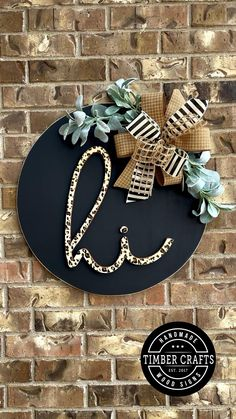 Cute Crafts, Crafts To Do, Diy Craft Projects, Fall Crafts, Holiday Crafts, Wood Crafts, Wood Projects, Diy Crafts For Home Decor, Wooden Door Signs