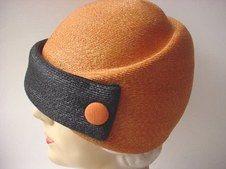 Side view of Schiaparelli hat.
