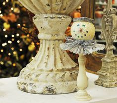 Ben Franklin Crafts & Frame Shop: Shabby Chic Snowman