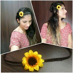 Bincha de flor girasol
