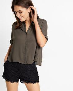 button down boxy shirt