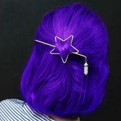 Star Howlite Crystal Clip