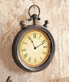 Take a look at this Antique Stop Watch Wall Clock by Evergreen on #zulily today!