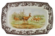 Spode Woodland American Wildlife Collection Platter