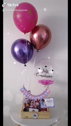 Bff Gifts, Xmas Gifts, Craft Gifts, Bff Birthday Gift, Birthday Gifts For Best Friend, Birthday Balloon Decorations, Diy Party Decorations, Quick Halloween Crafts, Birthday Hampers