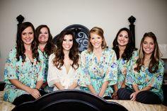Mint Bridesmaids Robes |The Milestone Aubrey Mansion  | Natalie Gore and James Casey Wedding Day