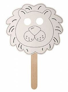 Colour & Decorate Puppets, Fans or Bookmarks - Lion Face - Pack of 4 Crafts by Type, Fan Making,  childrens crafts, kids craft supplies, children's craft kits, crafts for kids