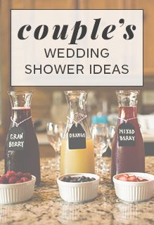 Want to celebrate your nuptials together? Co-ed is now on-trend! Check out these couple's wedding shower ideas that'll guarantee a good time!