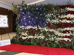 Amazing #flowerwall of the #Americanflag using #americangrownflowers #florist #floraldesign #flowers #wffsa2016 #patriotic #redwhiteandblue #instaflowers #floralinspiration #america #calflowers #soamazing great job by the team at @colonialhouseofflowers this wall was the focal point of the convention and the picture does not highlight all it's beauty. Great job @colonialhouseofflowers