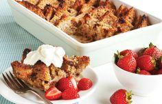 Ezekiel Bread Pudding -- add greek yogurt on top for a wonderful moist treat