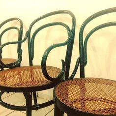 Restauradas!  Arte em Palha (Empalhamentos, Itu/SP) Cel/Whats: 11 97040-6441 Tel: 11 4025-2175 Instagram: #arteempalha  #cadeira #cadeiradepalhinha #palhinha #vintage #vintagestyle #thonet #restored #restore #rejilla #silla #canespotting #chair #chaircaning #decorhome #decor #decoração #decorations #interiors #interiordecor #bomdiaaa #bomdiaa #bomdia #bonjour #buendia #buongiorno #goodmorning #follow4follow