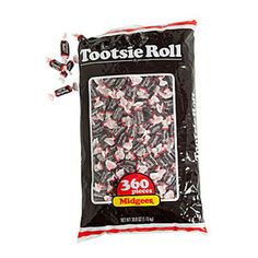 Tootsie Roll Midgees will satisfy sweet tooth's of all ages with it's chewy, chocolaty goodness. Each bag of Tootsie Rolls has 360 individually wrapped midgees. Candy Companies, Fancy Drinks, Bulk Candy, Favorite Candy, Yummy Treats, Cocoa, 3 D, Sweet Tooth, Tootsie Rolls