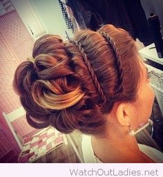Braided headbands and updo