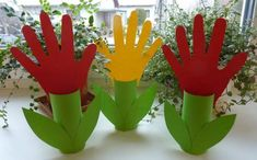 Tulipány - jarné aktivity pre deti - DIY and Crafts 2019 Toddler Art, Toddler Crafts, Preschool Crafts, Grandparents Day Crafts, Mothers Day Crafts For Kids, Mother's Day Activities, Spring Activities, Spring Art, Spring Crafts