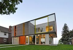 Another side of Johnsen Schmaling Architects' OS House, which earned a platinum rating in the U.S. Green Building Councils Leadership in Energy and Environmental Design program.