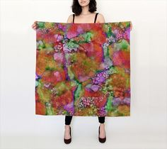 In The Beginning, Blood Orange - Silk Scarf, Large Square, 36x36