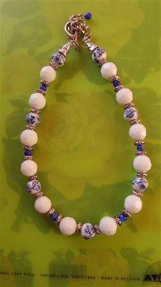 Blue and White Porcelain Bracelet