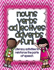 Nouns, Verbs & Adjectives *FREEBIE* from Growing Lifelong Learners on TeachersNotebook.com (5 pages)