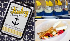 really nice nautical party - the invitation is spectacular!!