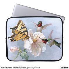 Butterfly and Hummingbirds Computer Sleeve