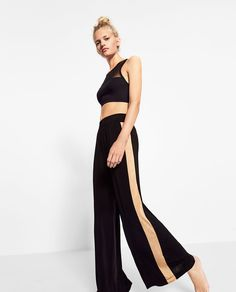 Image 3 of LONG TROUSERS WITH SIDE STRIPES from Zara
