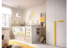 Rimobel Mundo Joven contemporary convertible cot to single bed with wardrobe Childrens Bedroom Furniture, Baby Furniture, Baby Bedroom, Kids Bedroom, Baby Rooms, Bedroom Decor, Cot With Storage, Bed With Wardrobe, Italian Furniture